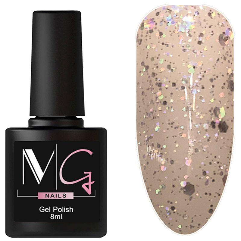 Гель-лак MG №012 (бледно-песочный с блестками) 8 мл