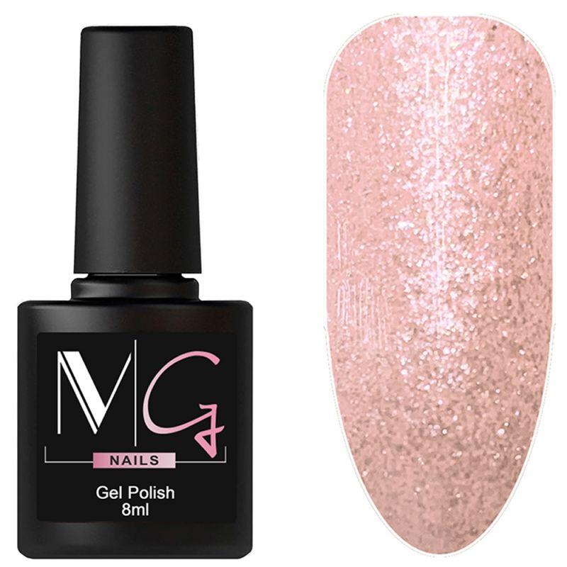 Гель-лак MG №017 Flickering Pink (розовый с микроблеском) 8 мл