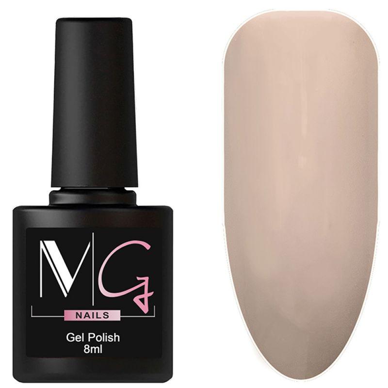 Гель-лак MG №022 Almond Frost (бледно-песочный, эмаль) 8 мл