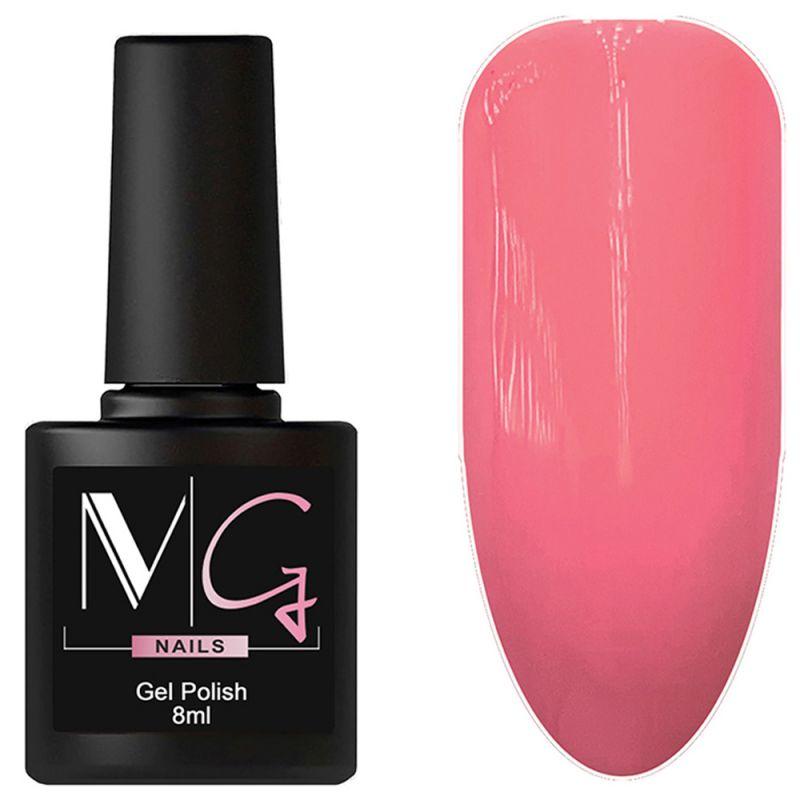 Гель-лак MG №047 Tea Rose (насыщенный пурпурно-розовый, эмаль) 8 мл
