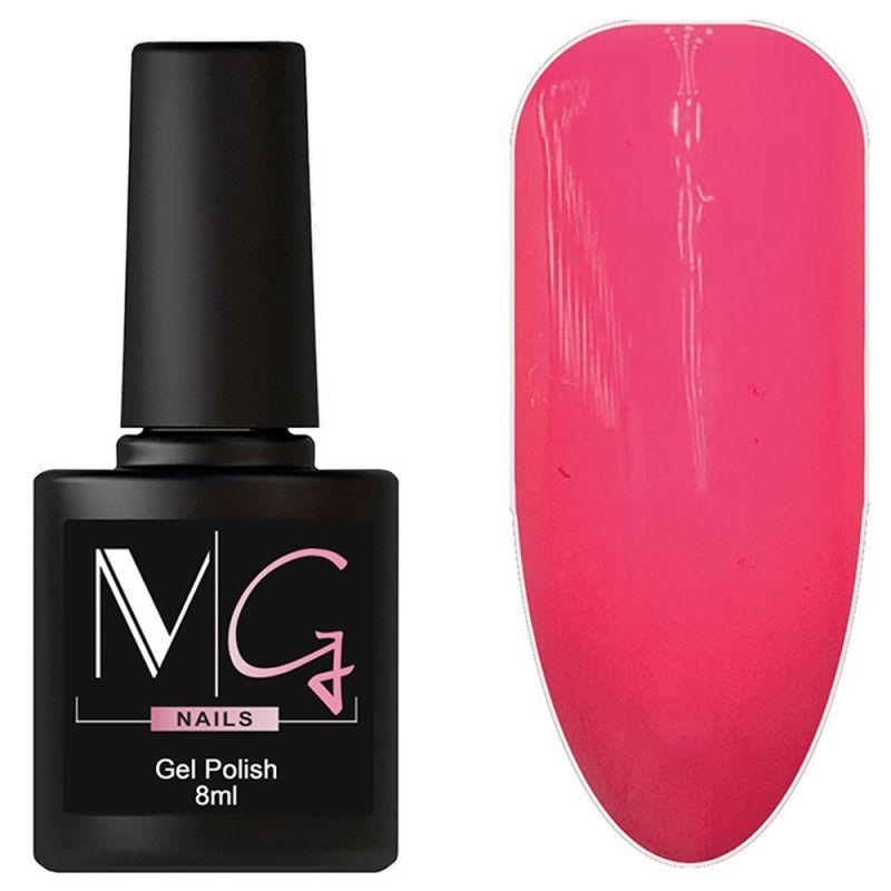 Гель-лак MG №049 Hot Pink (ярко-розовый, эмаль) 8 мл