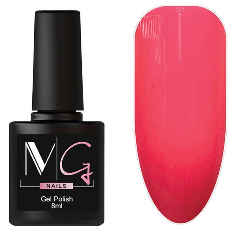 Гель-лак MG №050 Crystal Rose (насыщенно-розовый, эмаль) 8 мл