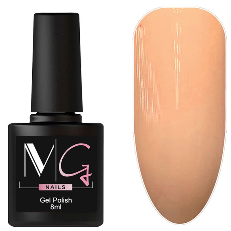 Гель-лак MG №051 Soft Peach (светло-персиковый, эмаль) 8 мл