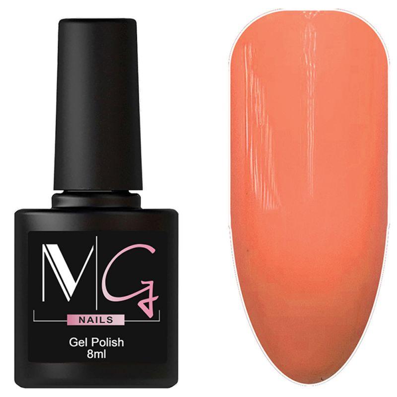 Гель-лак MG №052 Peach Orange (оранжево-персиковый, эмаль) 8 мл