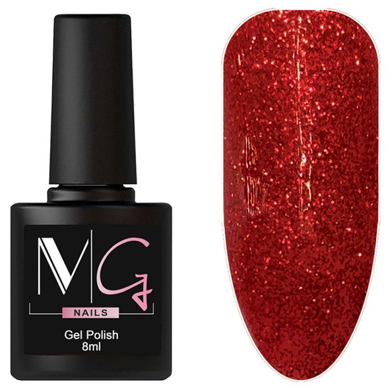 Гель-лак MG №061 Gltiter Red (красный с глиттером) 8 мл