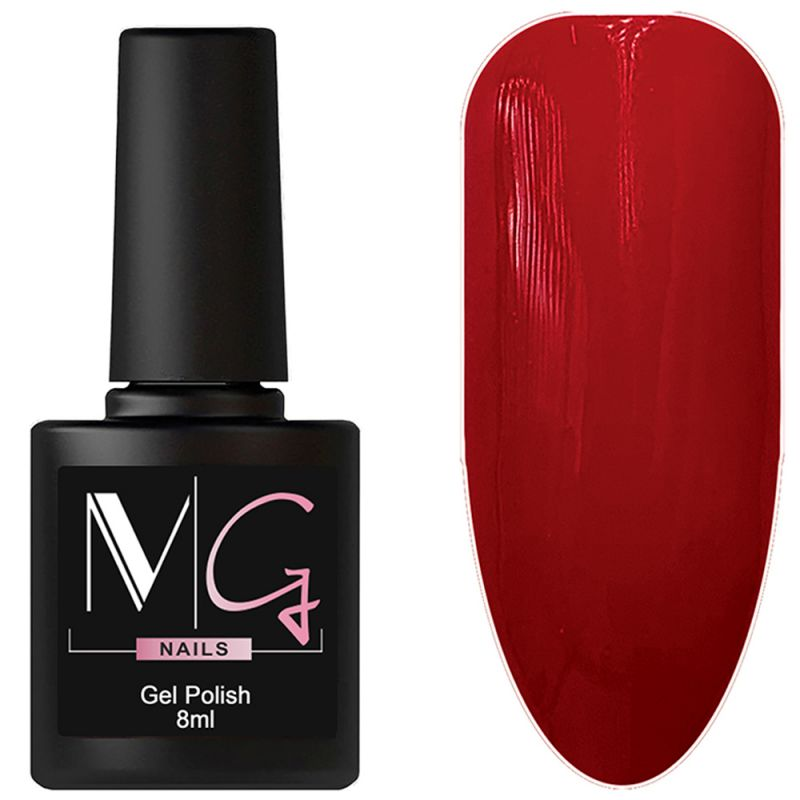 Гель-лак MG №065 Crimson (красно-малиновый, эмаль) 8 мл