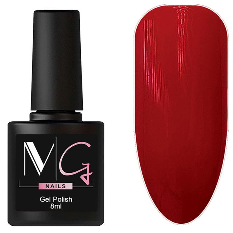 Гель-лак MG №066 Carmine (карминово-красный, эмаль) 8 мл