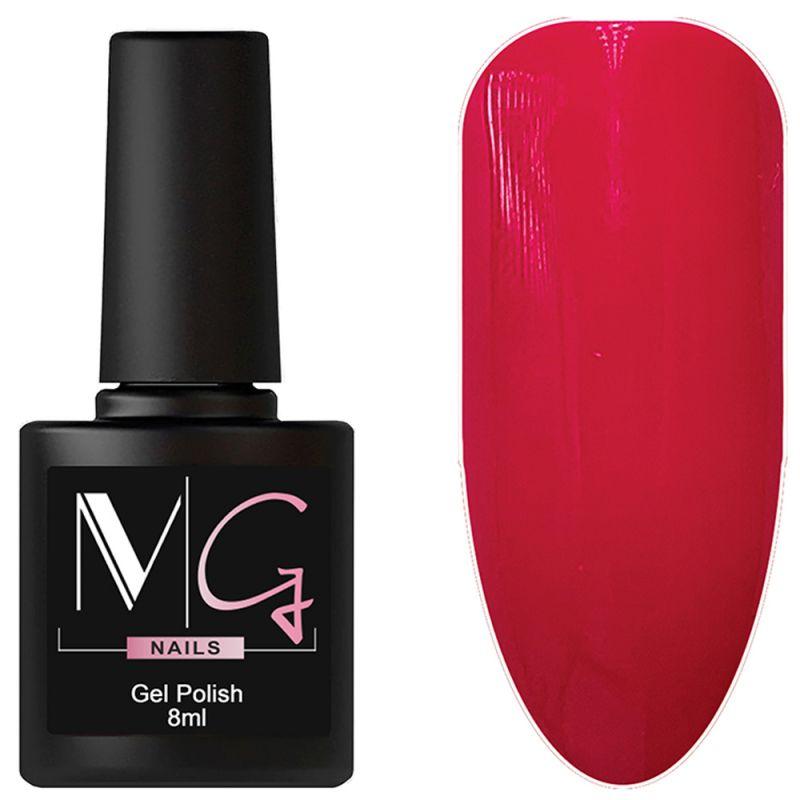 Гель-лак MG №077 Magenta (малиново-красный, эмаль) 8 мл