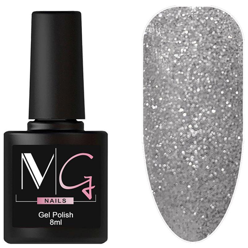 Гель-лак MG №082 Silver Shine (серебряный с блестками) 8 мл