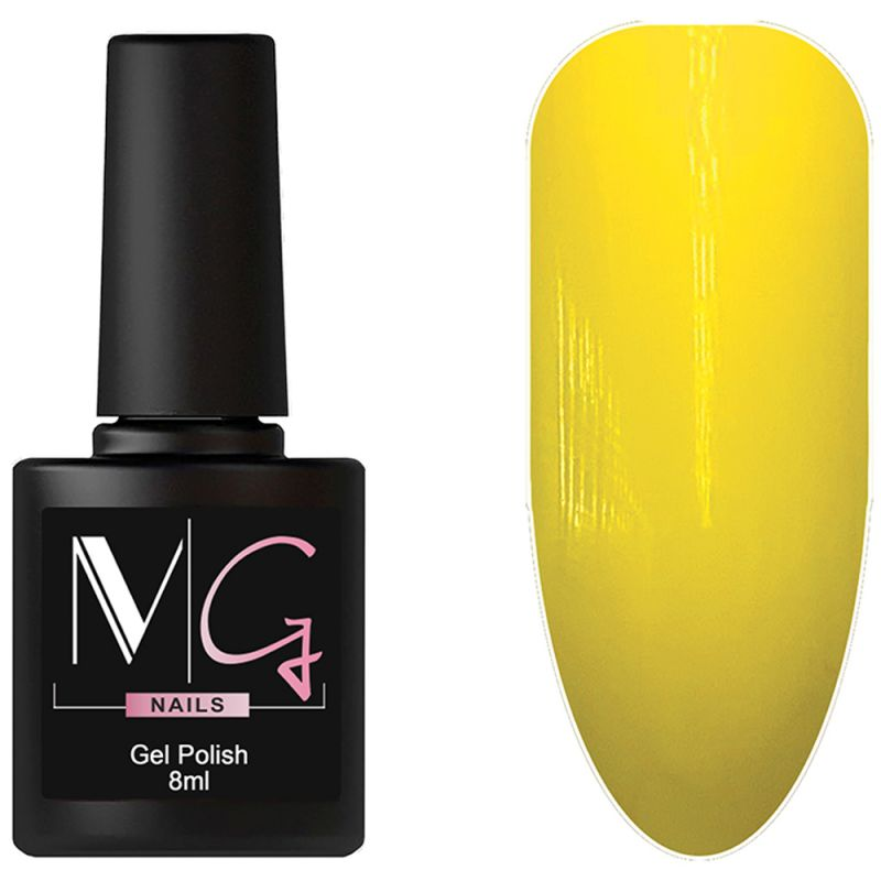 Гель-лак MG №142 Golden Poppy (желтый, эмаль) 8 мл