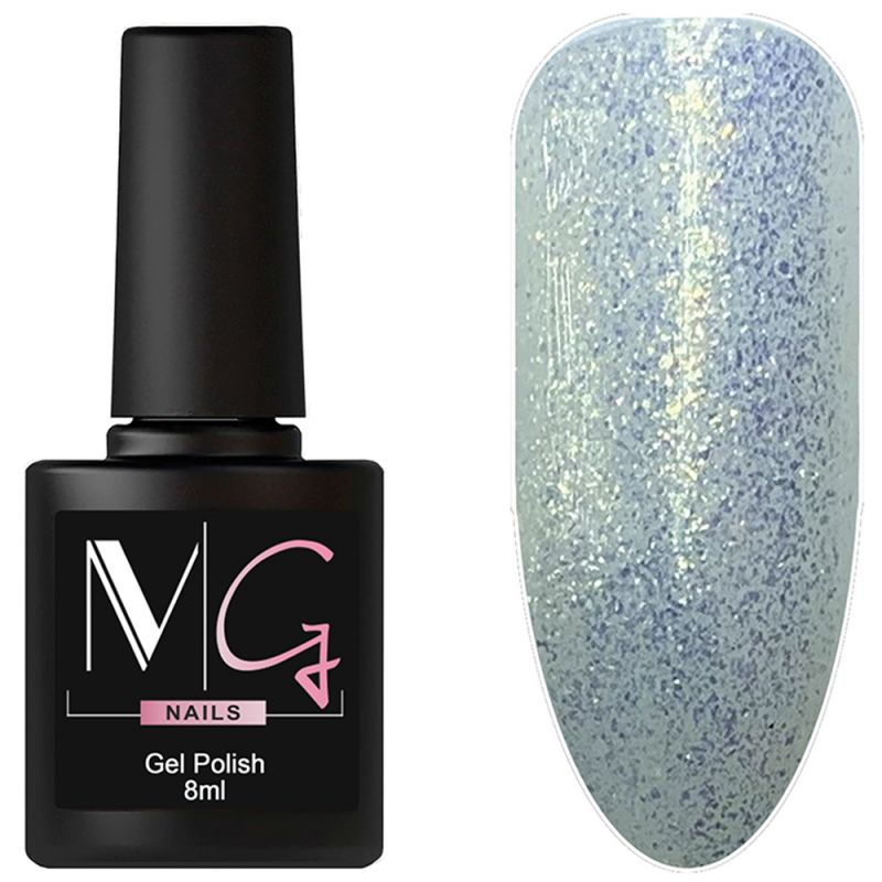 Гель-лак MG №145 (бледно-голубой с блестками) 8 мл