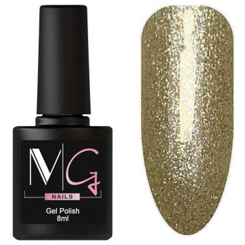 Гель-лак MG №158 (песочно-золотой с блестками) 8 мл