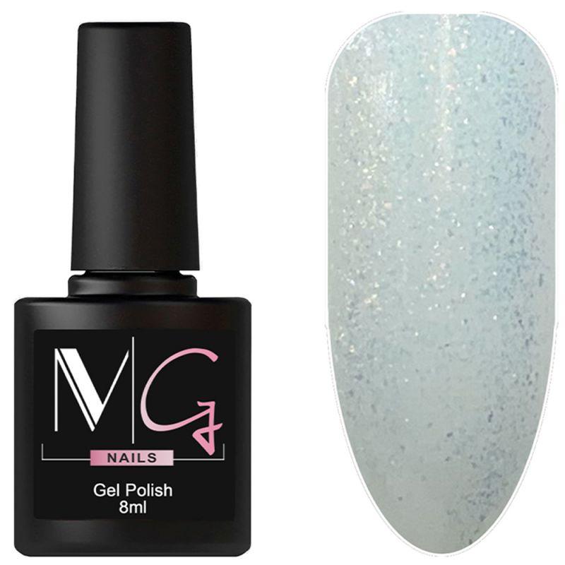 Гель-лак MG №153 (прозрачный со светло-голубыми блестками) 8 мл