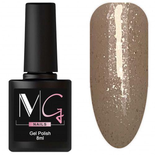 Гель-лак MG №159 (коричнево-золотой с блестками) 8 мл