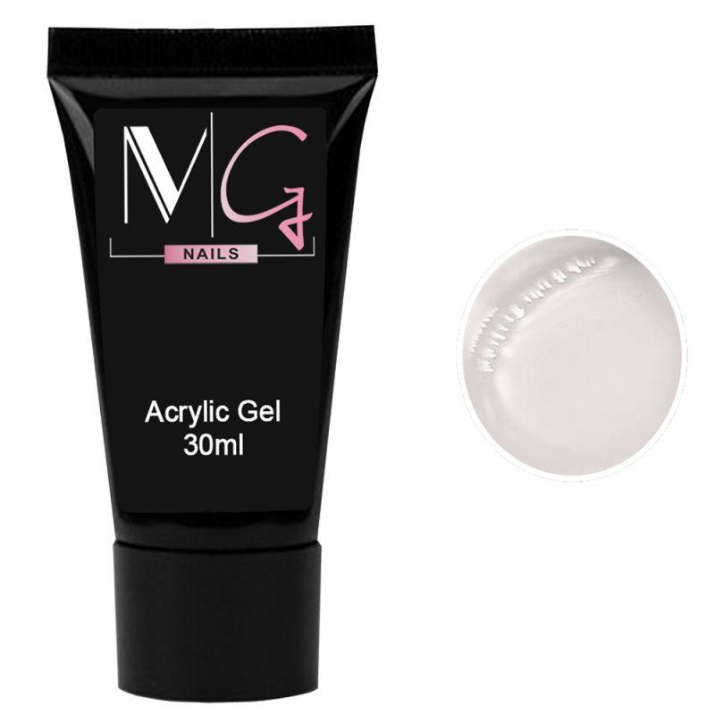 Акрил-гель для ногтей MG Acrylic Gel №01 (прозрачный) 30 мл