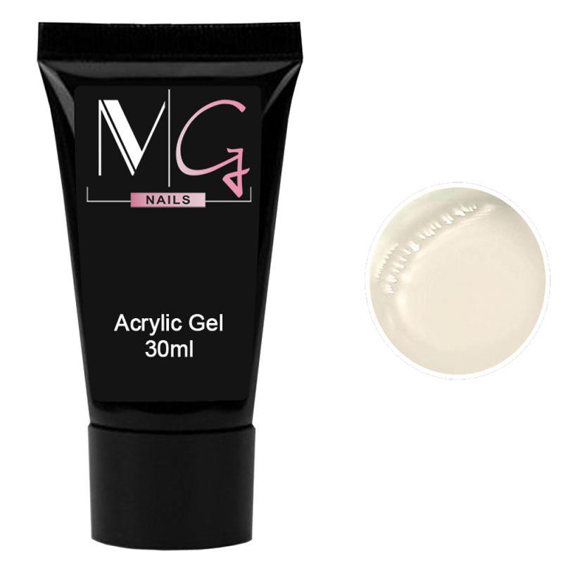 Акрил-гель для ногтей MG Acrylic Gel №02 (белый) 30 мл