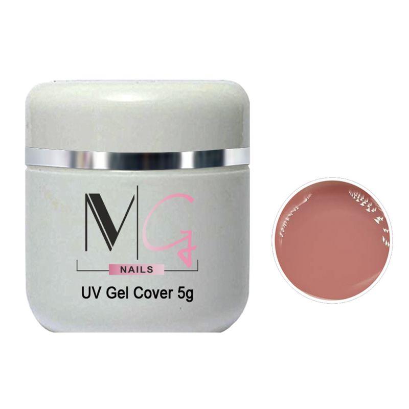 Гель строительный камуфлирующий MG UV Gel Cover Light (пепельно-розовый) 5 мл