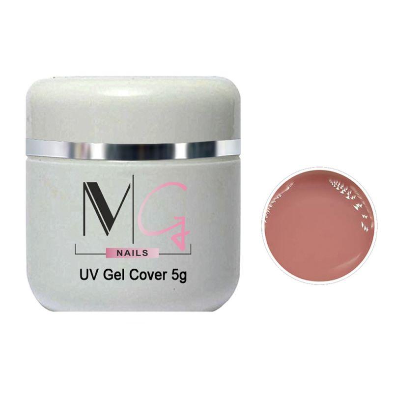 Гель строительный камуфлирующий MG UV Gel Medium (розово-бежевый) 5 мл