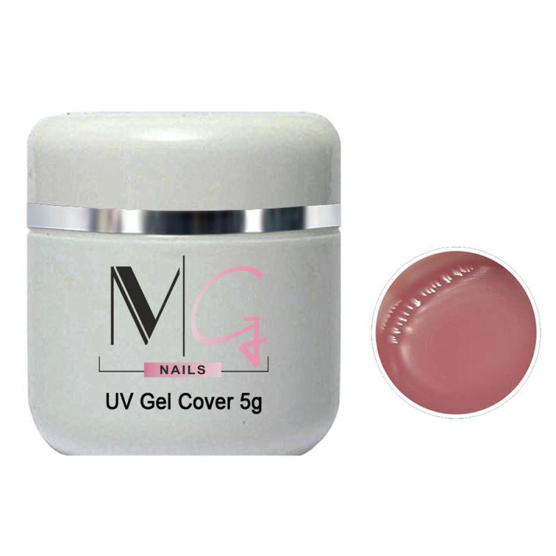 Гель строительный камуфлирующий MG UV Gel Cover (розово-сливовый) 5 мл