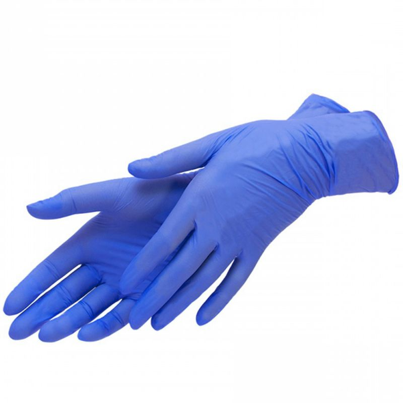 Перчатки нитриловые без пудры Mercator Medical Nitrylex Classic Blue L 100 штук