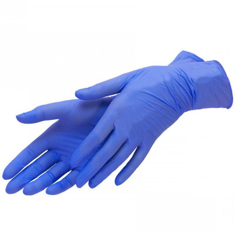 Перчатки нитриловые без пудры Mercator Medical Nitrylex Classic Blue M 200 штук
