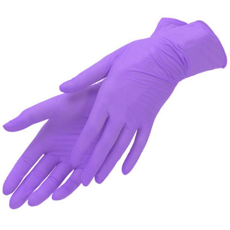 Перчатки нитриловые без пудры Mercator Medical Nitrylex PF Complеte Lavender М 100 штук