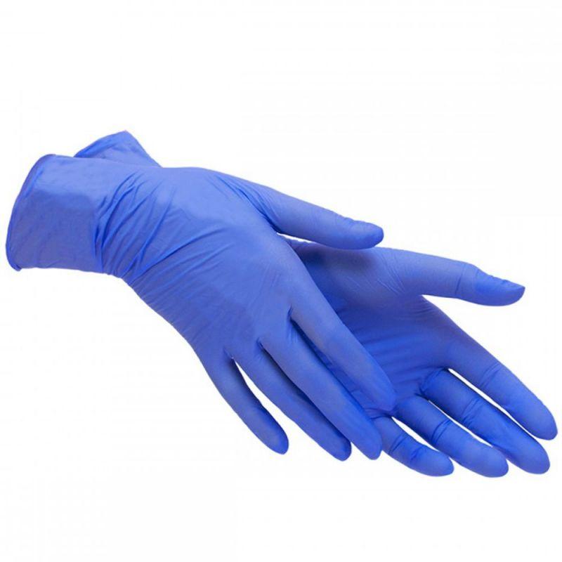 Перчатки нитриловые без пудры Maxter Cobalt Blue L 100 штук