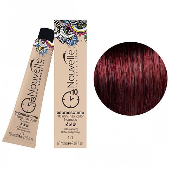 Крем-краска для волос Nouvelle Espressotime 5.6 (каштановый светло-красный) 60 мл