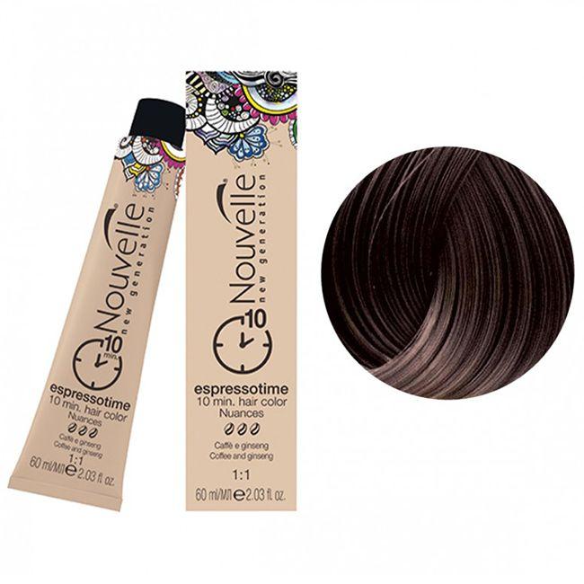 Крем-краска для волос Nouvelle Espressotime 5 (темно-русый) 60 мл