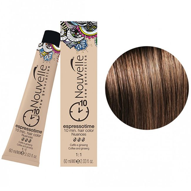 Крем-краска для волос Nouvelle Espressotime 6.3 (темно-русый золотистый) 60 мл