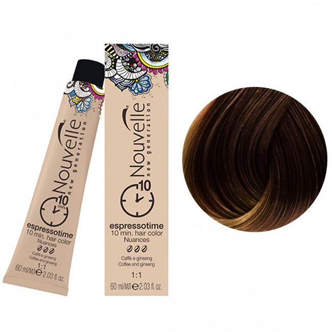 Крем-краска для волос Nouvelle Espressotime 6.73 (темный коричнево-золотистый блондин) 60 мл