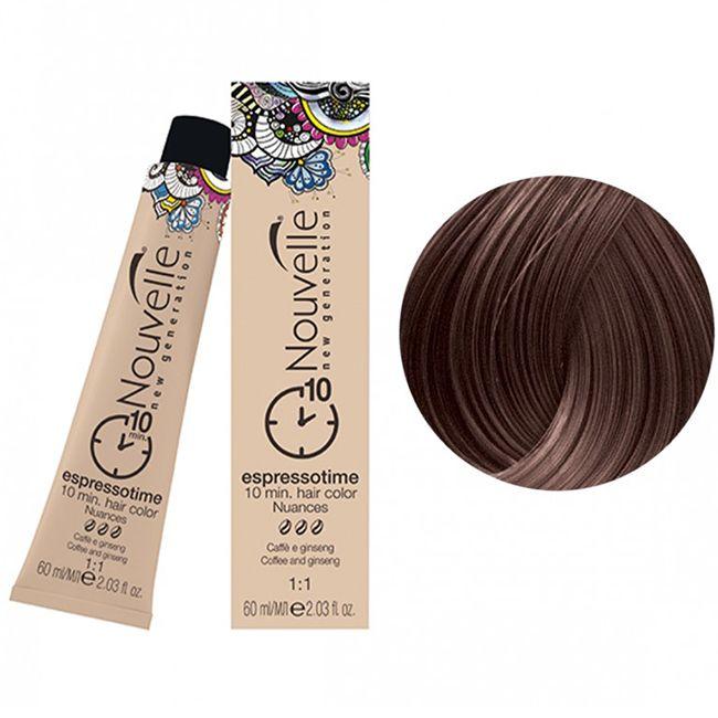 Крем-краска для волос Nouvelle Espressotime 6 (темно-русый натуральный) 60 мл