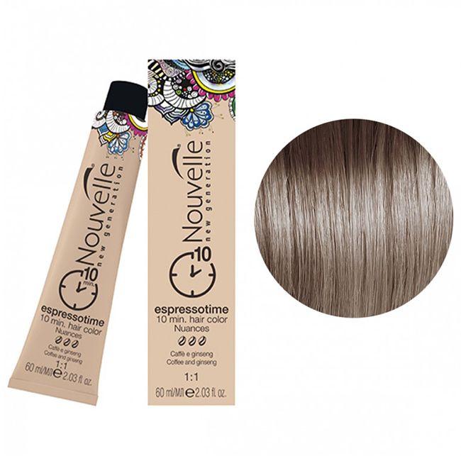 Крем-краска для волос Nouvelle Espressotime 7.11 (блондин интенсивный пепельный) 60 мл