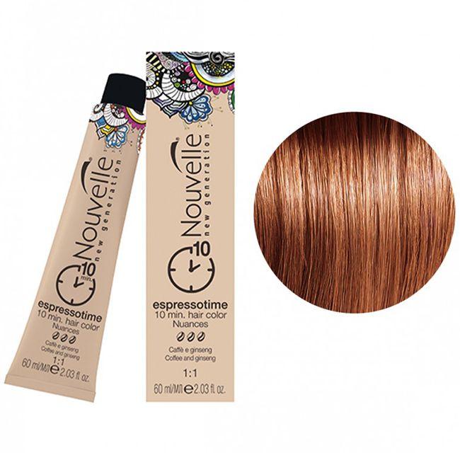 Крем-краска для волос Nouvelle Espressotime 7.44 (блондин медный интенсивный) 60 мл