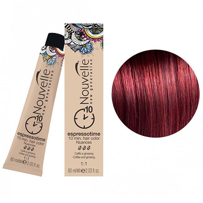 Крем-краска для волос Nouvelle Espressotime 7.66 (блондин интенсивный красный) 60 мл