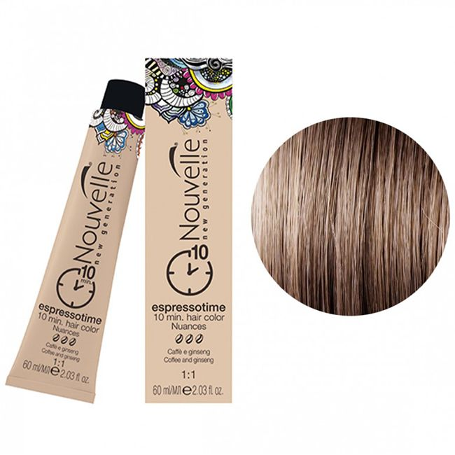 Крем-краска для волос Nouvelle Espressotime 7.71 (русый, коричнево-пепельный) 60 мл