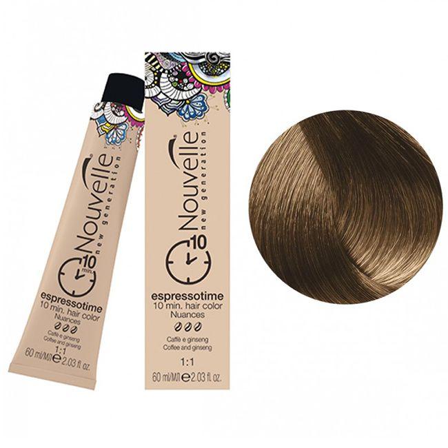 Краска для волос Nouvelle Espressotime 7 (средне-русый коричневыый) 60 мл