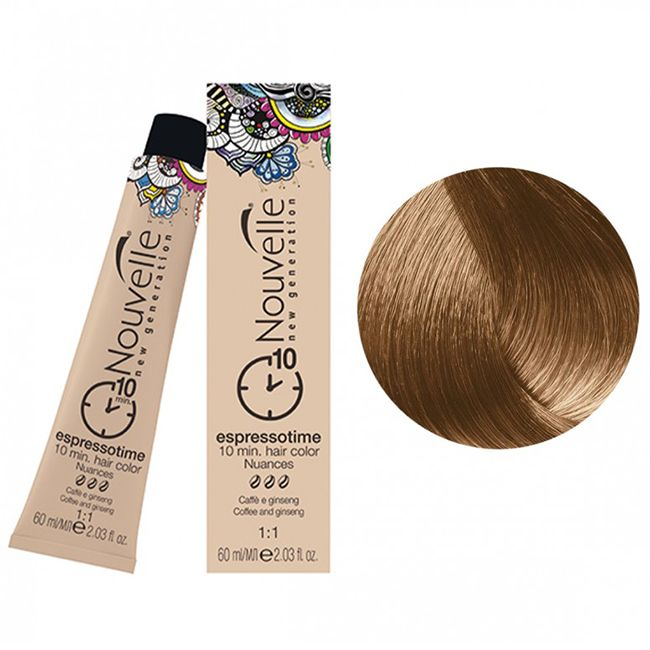Крем-краска для волос Nouvelle Espressotime 8.3 (светлый золотистый блондин) 60 мл