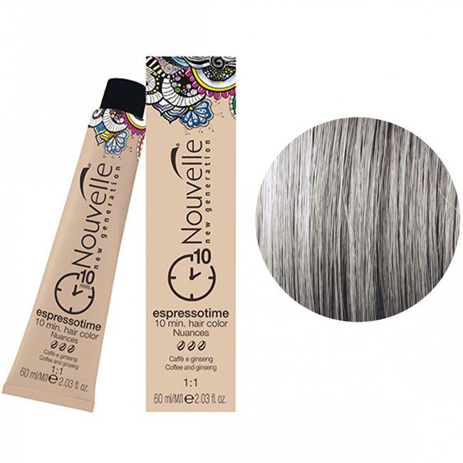 Крем-краска для волос Nouvelle Espressotime 9.11 (очень светлый пепельный блондин) 60 мл