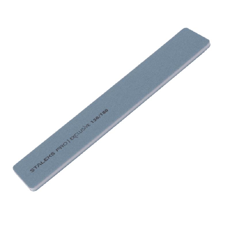 Пилка для ногтей минеральная Staleks Pro Exclusive (прямая, широкая, 150/180 грит)