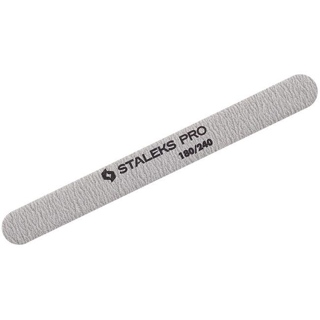 Пилка для ногтей минеральная Staleks Pro Expert (прямая, 180/240 грит)