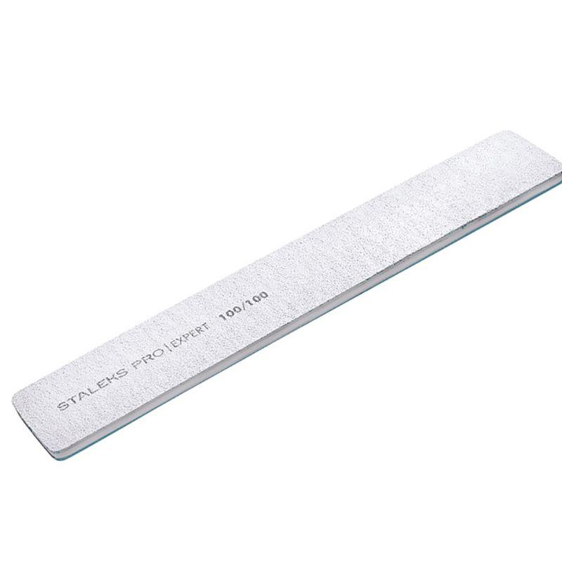 Пилка для ногтей Staleks Pro Expert (прямая, широкая, 100/100 грит)