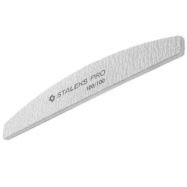 Пилка для ногтей минеральная Staleks Pro Expert (полумесяц, 100/100 грит)