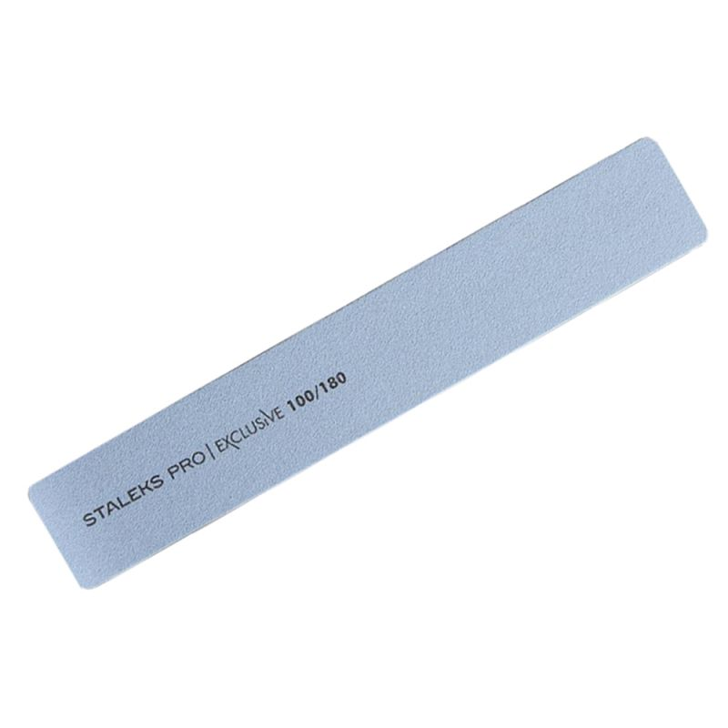 Пилка для ногтей минеральная Staleks Pro Exclusive (прямая, широкая, 100/180 грит)