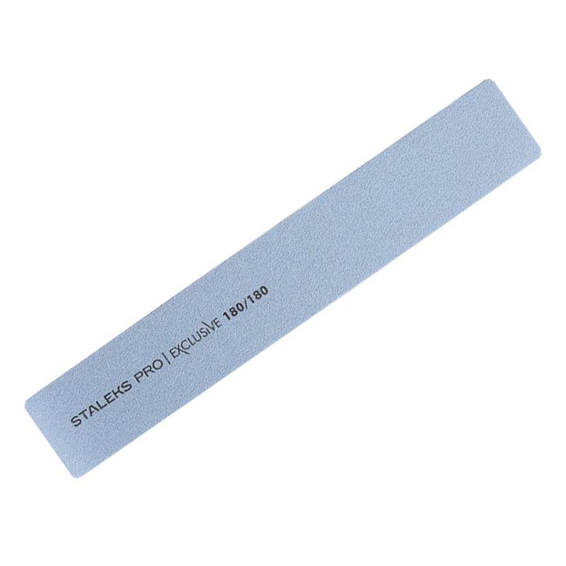 Пилка для ногтей минеральная Staleks Pro Exclusive (прямая, широкая, 180/180 грит)
