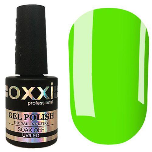 Гель-лак Oxxi №285 (неоновый салатовый, эмаль) 10 мл