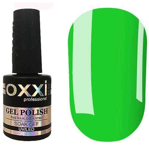 Гель-лак Oxxi №286 (неоновый зеленый, эмаль) 10 мл