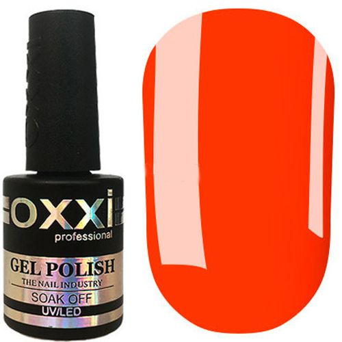 Гель-лак Oxxi №334 (неоново-оранжевый, эмаль) 10 мл