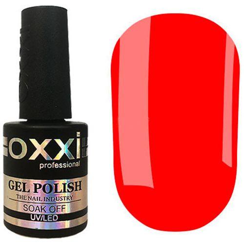 Гель-лак Oxxi №335 (красно-оранжевый, эмаль) 10 мл