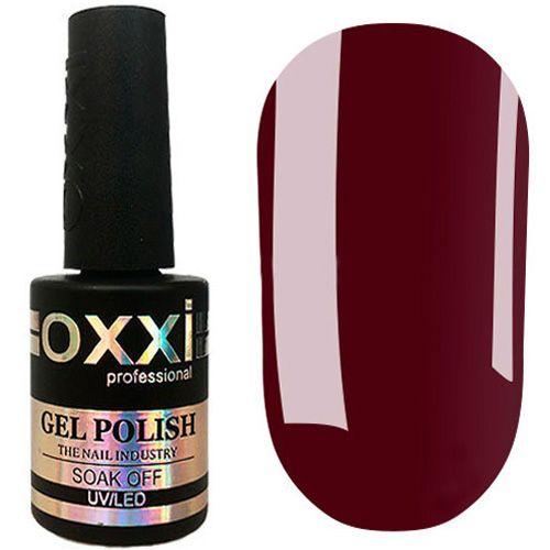 Гель-лак Oxxi №344 (темно-бордовый, эмаль) 10 мл